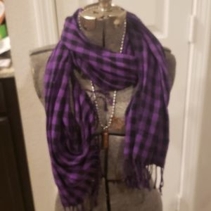 Purple and black scarf